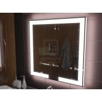 Зеркало с подсветкой лентой для ванной комнаты Новара 120x120 см