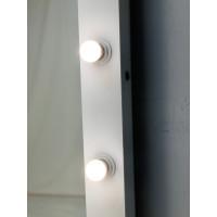 Белое гардеробное зеркало с подсветкой 180 на 80 см
