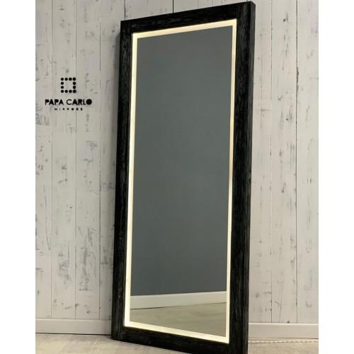 Гримерное зеркало с LED подсветкой из массива лиственницы