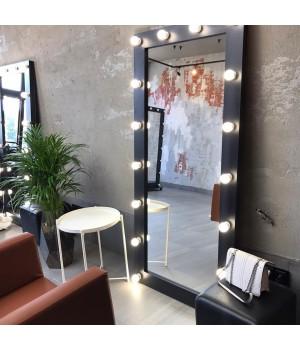 Гримерное зеркало с подсветкой венге 175х80 лдсп стандарт